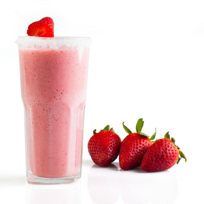 Brudsikre drikkeglas med jordbær milkshake