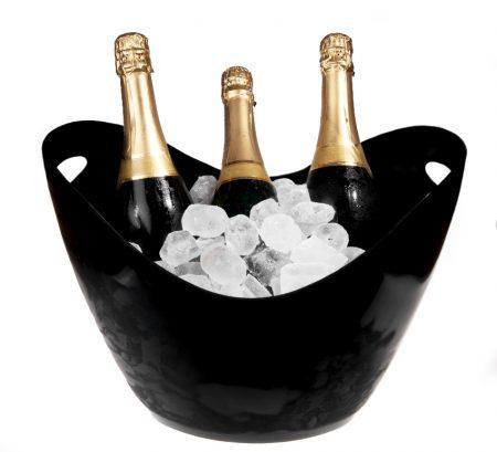 Champagne køler sort 8 liter