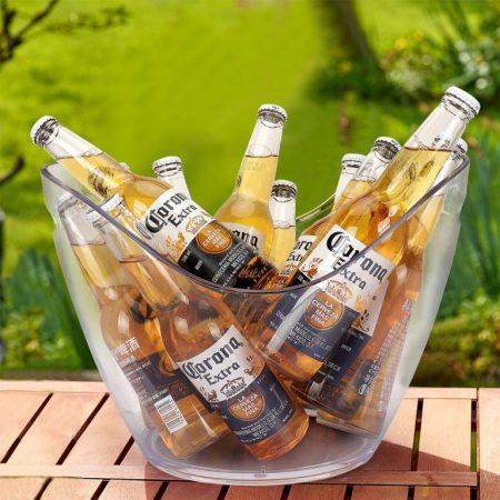 champagne køler transparent 8 liter