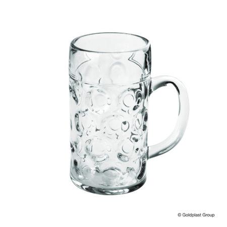 Ølglas med hank 1 liter