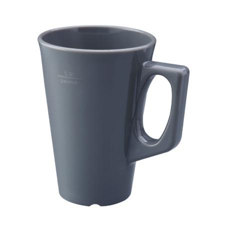 Kaffekrus med hank mørkegrå 26 cl
