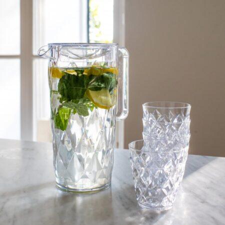 Koziol kande med 4 glas Brudsikkert plastik